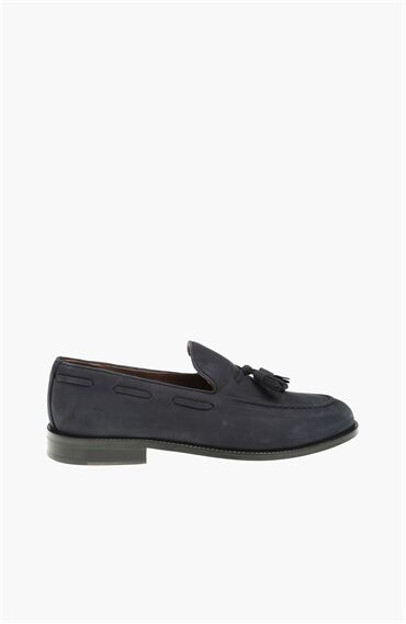 Nubuk Lacivert Erkek Loafer
