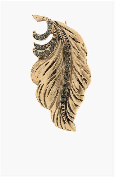 Altın Rengi Kadın Broş