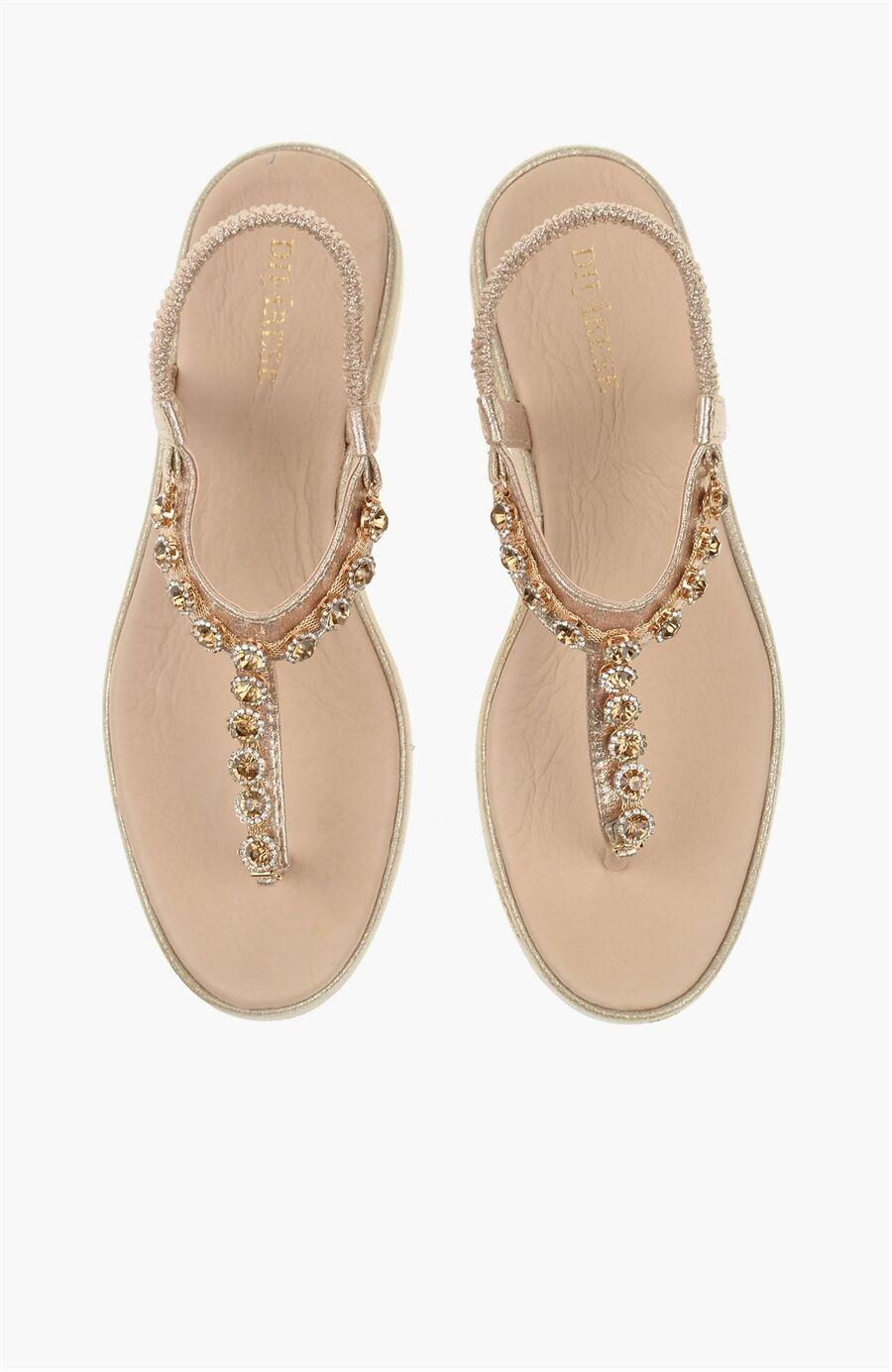 Altın Rengi Sandalet