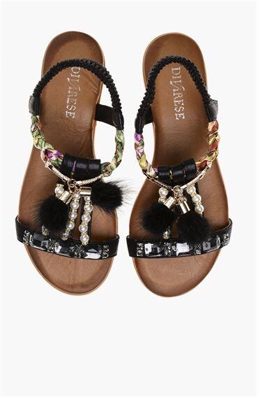Siyah Sandalet