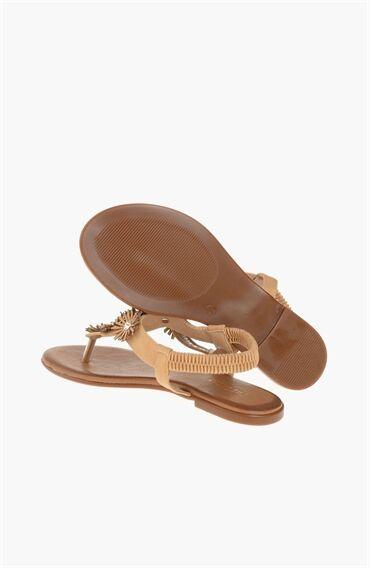 Koyu Bej Sandalet