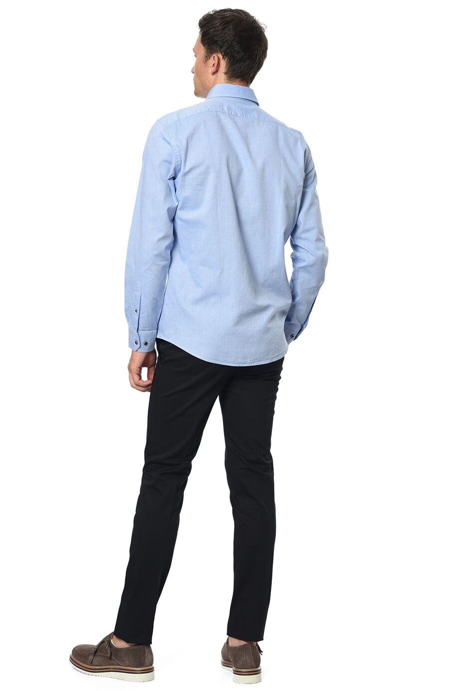Oxford Slım Fit Açık Mavi Gömlek