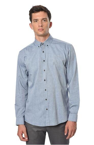 Oxford Slım Fit Lacivert Gömlek