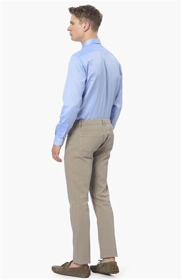 Slim Fit Bej Casual Pantolon