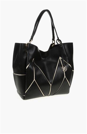Siyah Bej Çanta