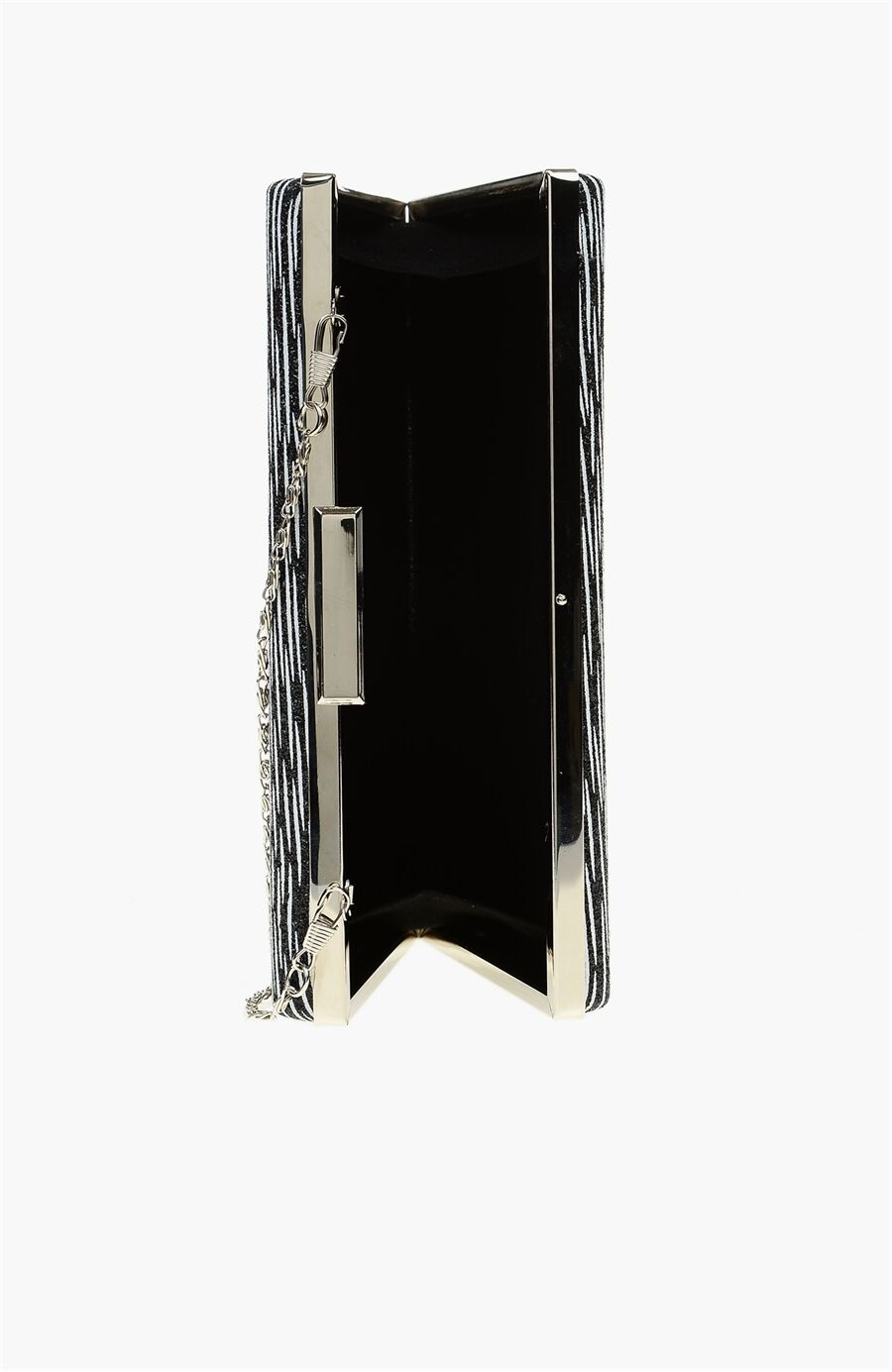 Siyah Beyaz Clutch
