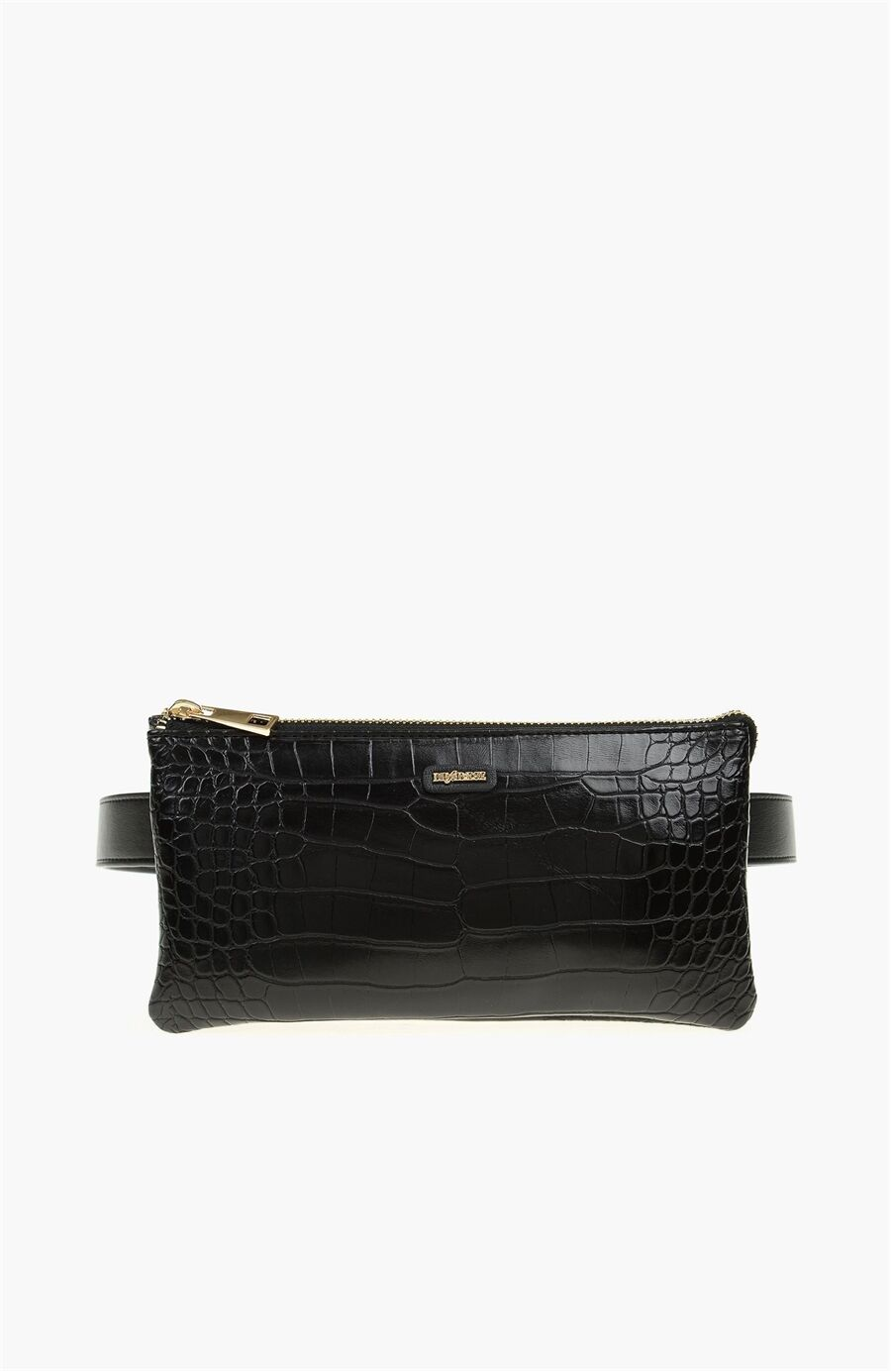Dıvarese Krokodil Desenli Siyah Clutch – 299.0 TL