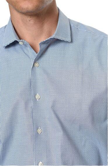 Desenli Slım Fit Mavi Beyaz Gömlek