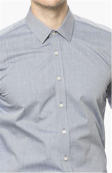 Armürlü Lacivert Gömlek