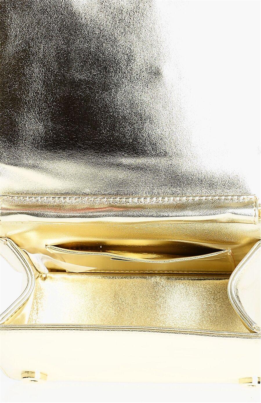 Taşlı Altın Clutch