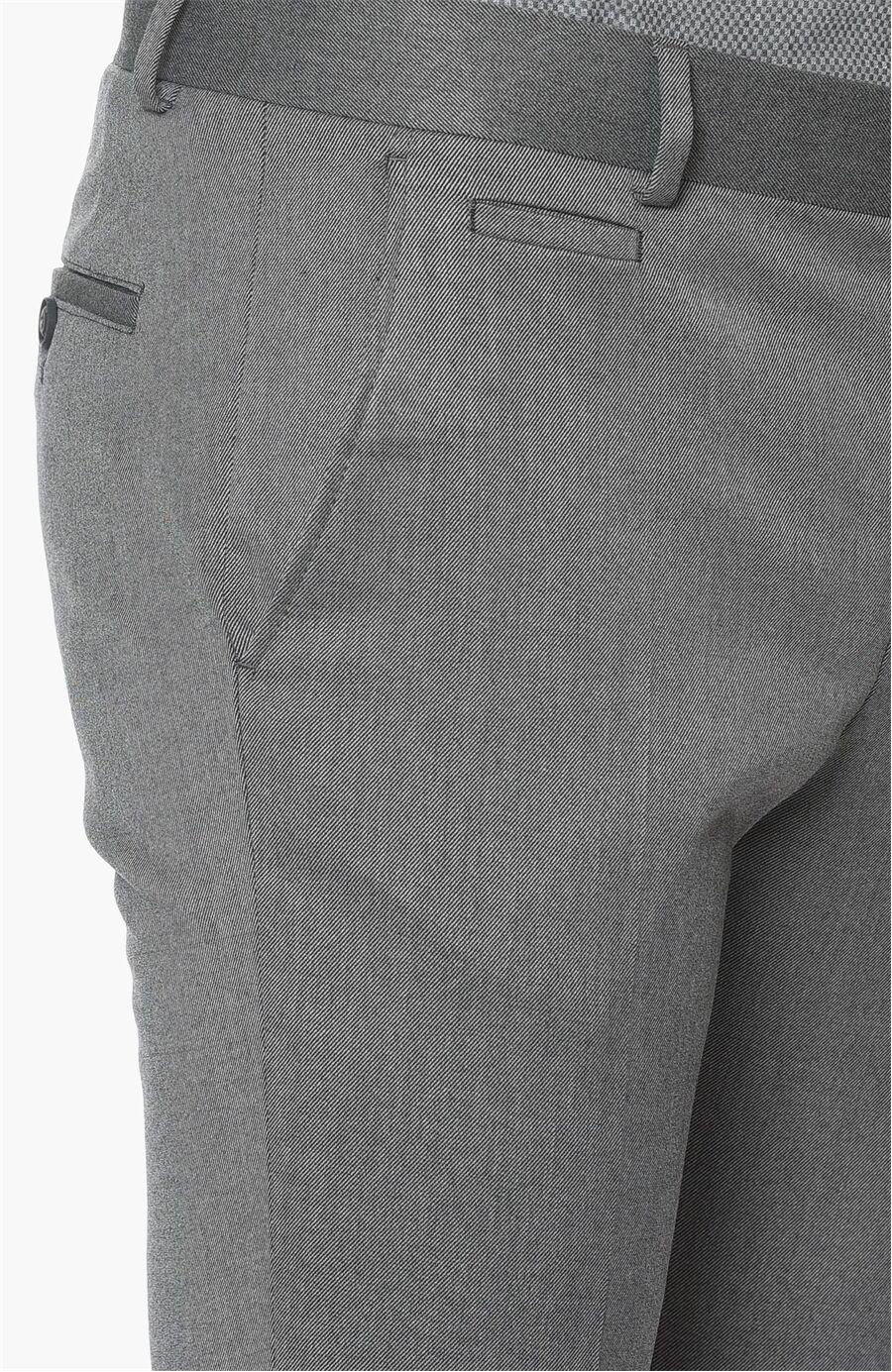 Diyagonal Slım Fit Antrasit Pantolon