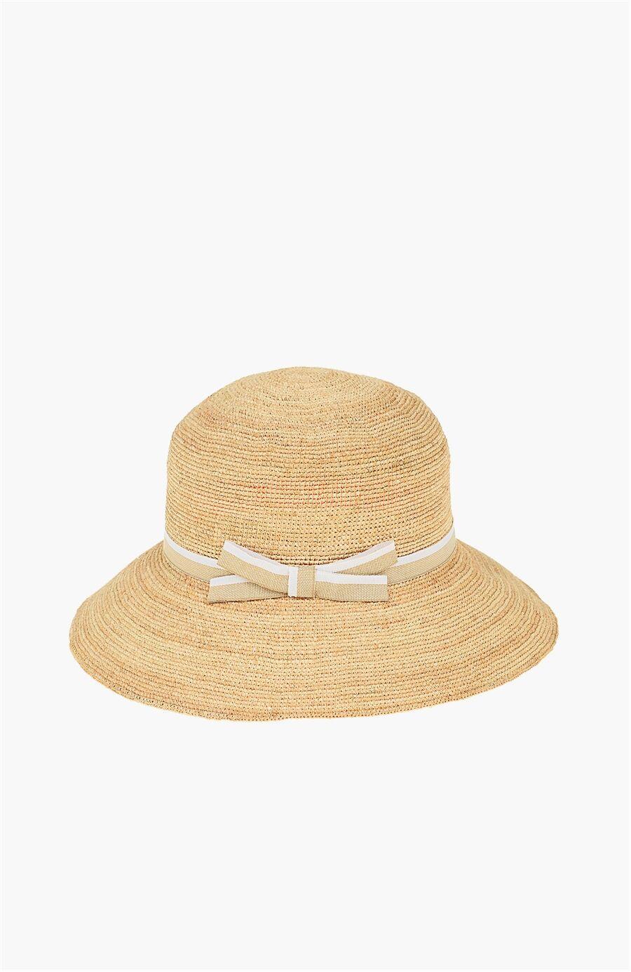 Hasir Naturel Kadın Şapka