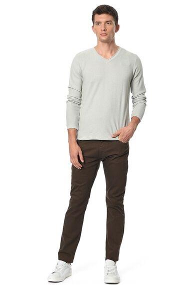Slım Fit Fındık Rengi Casual Pantolon