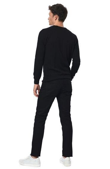 Slım Fit Siyah Casual Pantolon
