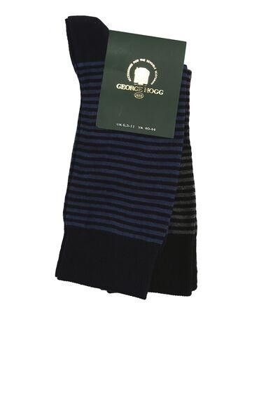 Bamboo Siyah Lacivert 2li Çorap Set