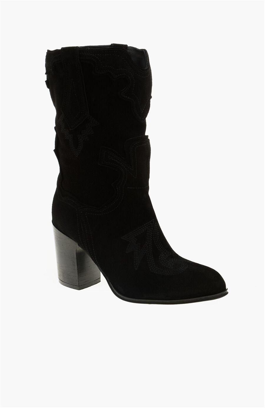 Dıvarese Süet Siyah Çizme – 399.0 TL