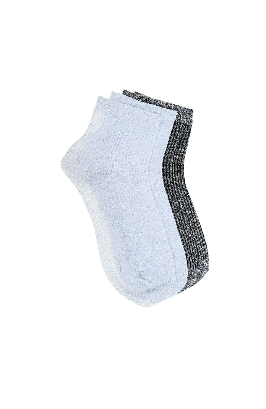 Beyaz Siyah 2'li Çorap Set