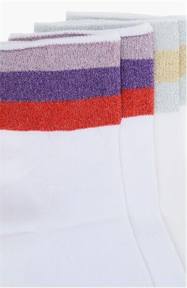 Beyaz 2'li Çorap Set