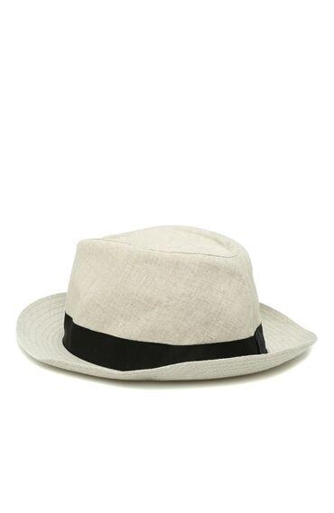 Keten Açık Gri Erkek Şapka
