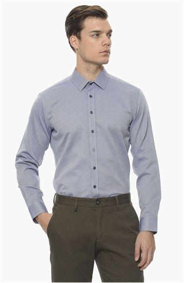 Armürlü Mavi Beyaz Gömlek