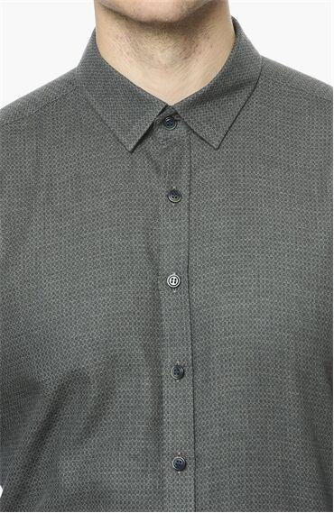 Jakarlı Haki Gömlek
