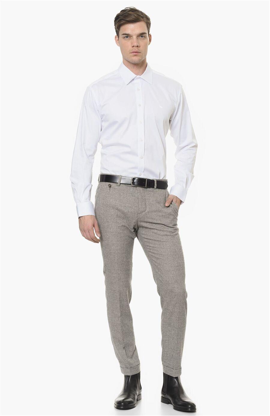 Slım Fit Beyaz Gömlek