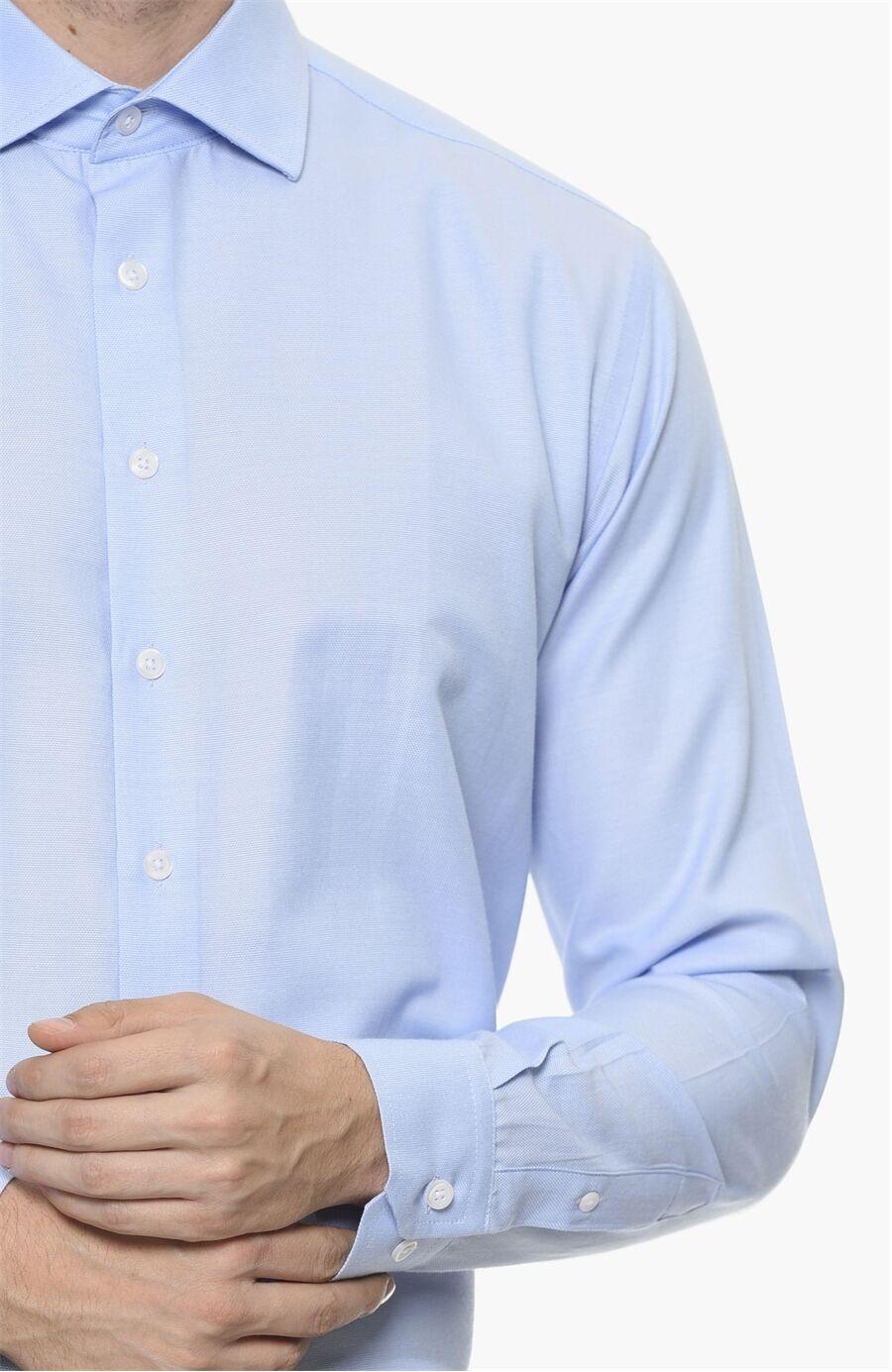 Oxford Desen Mavi Gömlek