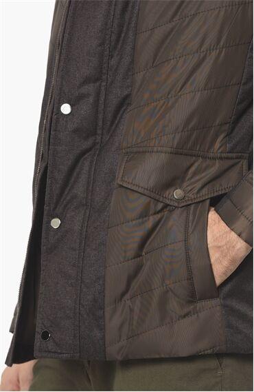 Kapitoneli Slım Fit Kahverengi Coat Ceket