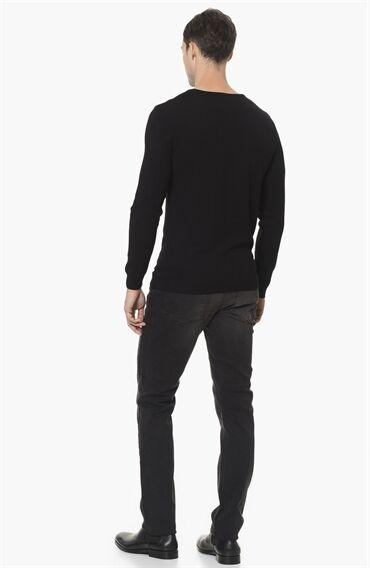 Slim Fit Antrasit Denım Pantolon