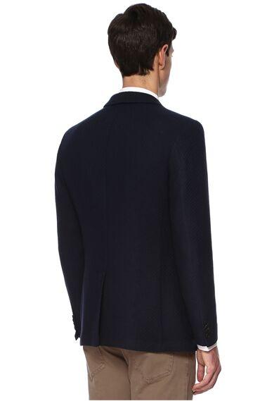 Jakarlı Lacivert Ceket