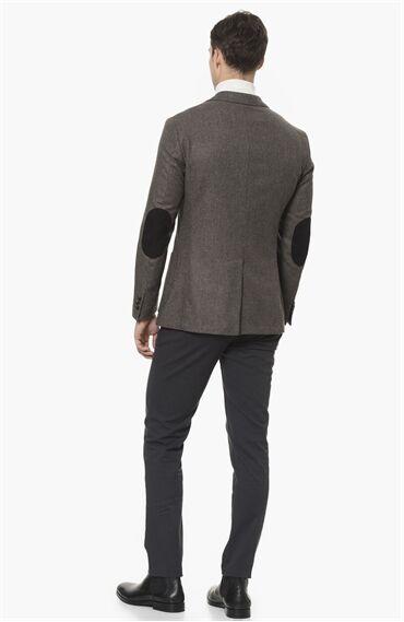Mikro Slım Fit Kahverengi Ceket