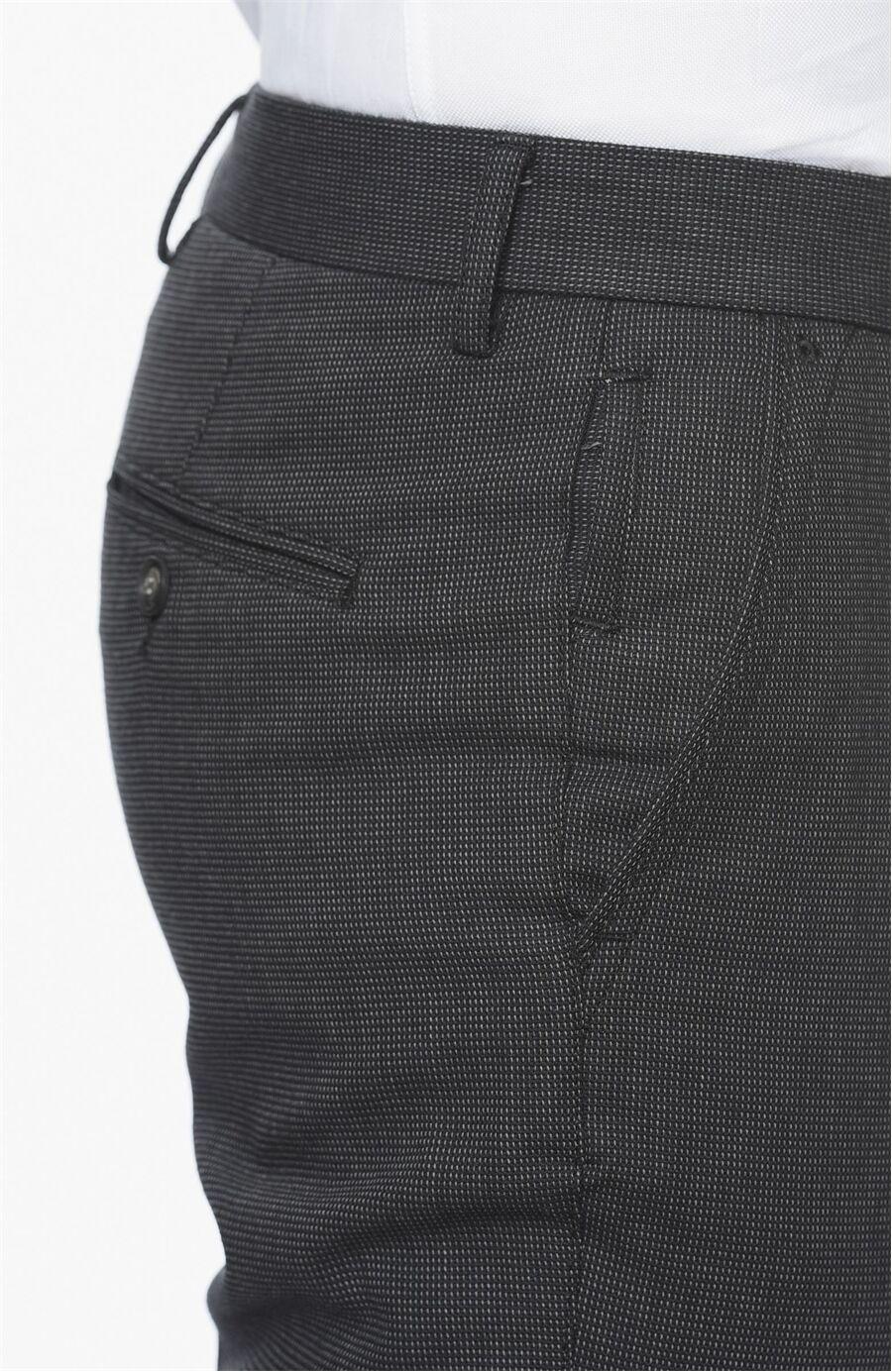 Mikro Desenli Slım Fit Erkek Pantolon