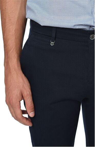 Armürlü Lacivert Pantolon