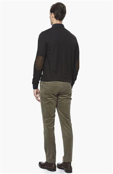 Çizgili Bej Pantolon