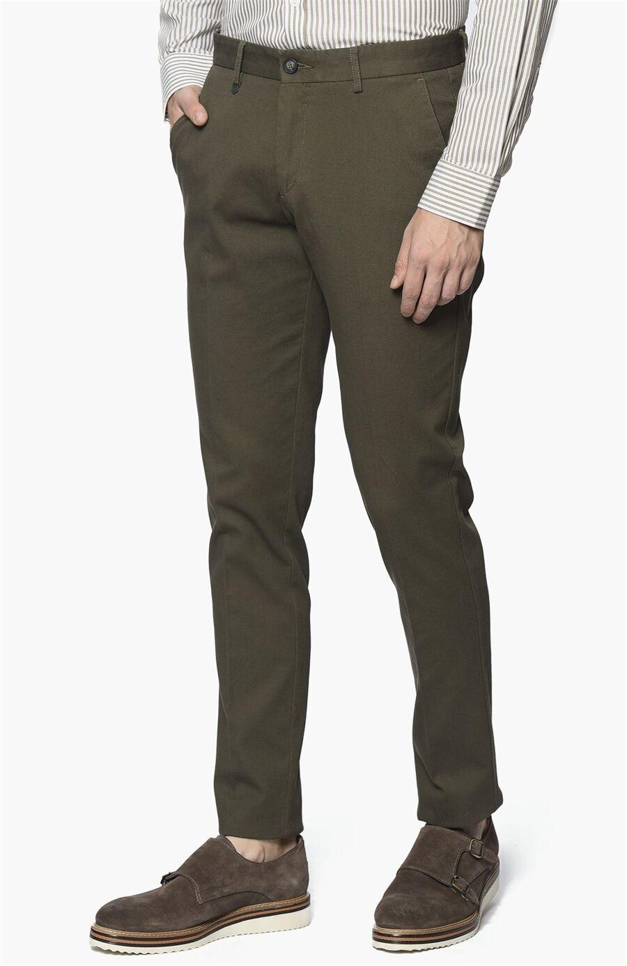 Armürlü Yağ Yeşili Pantolon