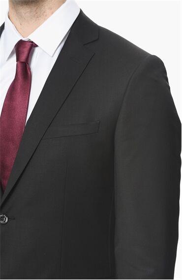 Slım Fit Siyah Takım Elbise