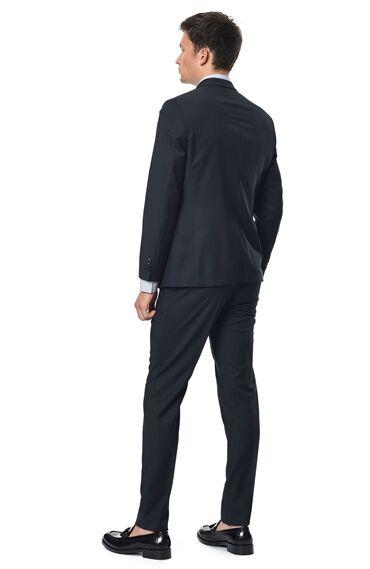 Slım Fit Lacivert Takım Elbise