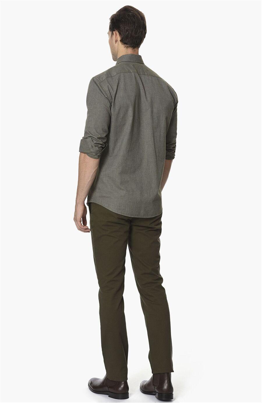 Armürlü Haki Casual Pantolon
