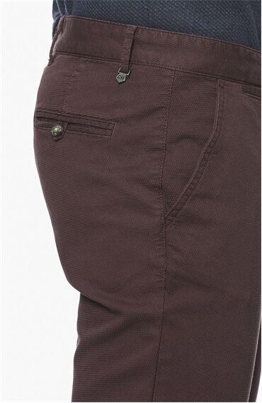 Armürlü Mürdüm Casual Pantolon