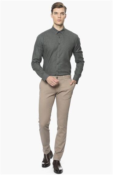 Armürlü Vizon Casual Pantolon