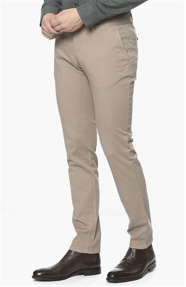 Armürlü Desen Vizon Casual Pantolon