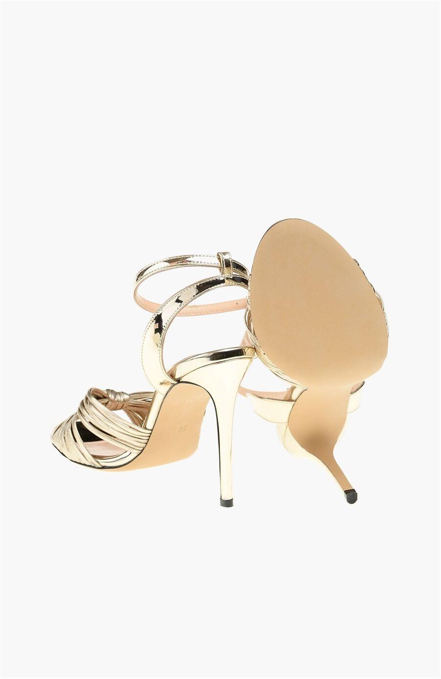 Dm X Network Altın Rengi Kadın Sandalet