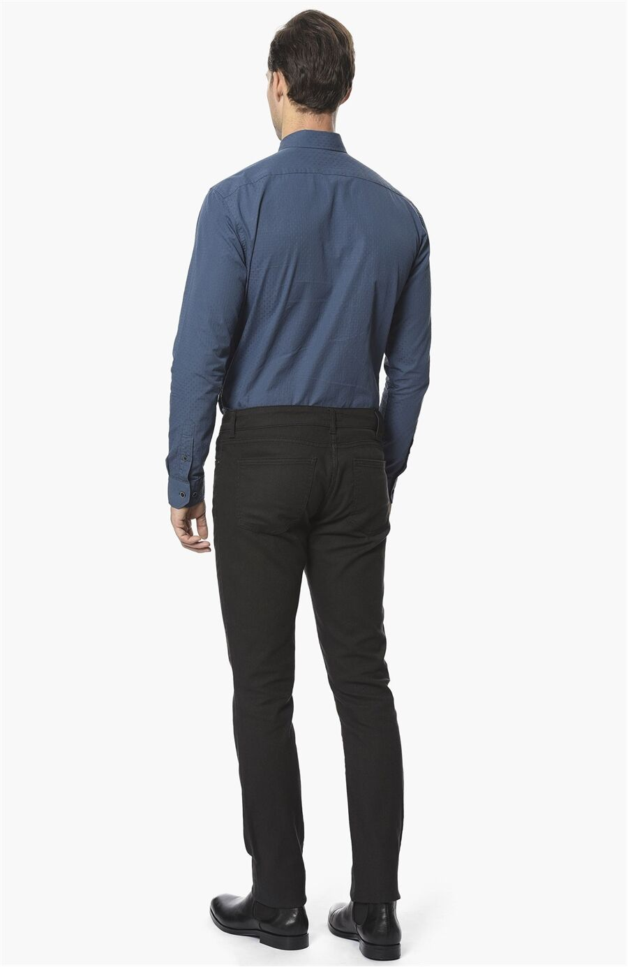 Armürlü Antrasit Casual Pantolon
