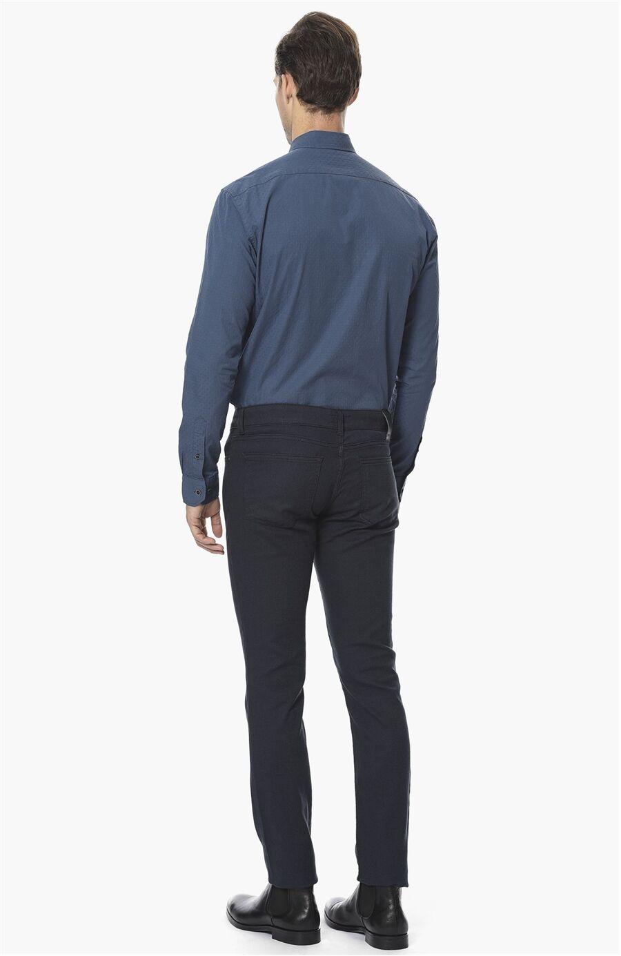 Armürlü Lacivert Casual Pantolon