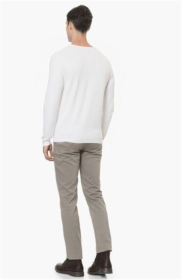 Armürlü Bej Casual Pantolon