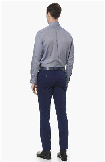 Armürlü Royal Mavi Casual Pantolon