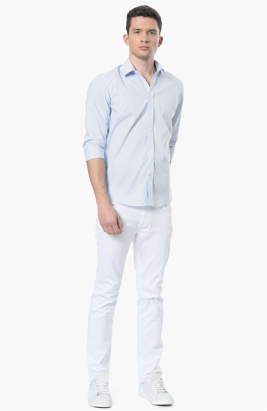 Çizgili Mavi Gömlek