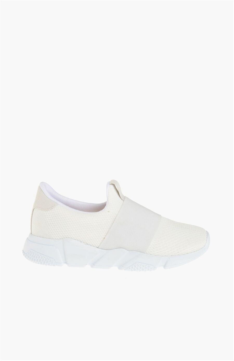 Süet Beyaz Kadın Sneaker
