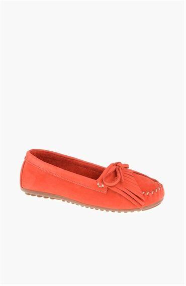 Nubuk Kırmızı Loafer
