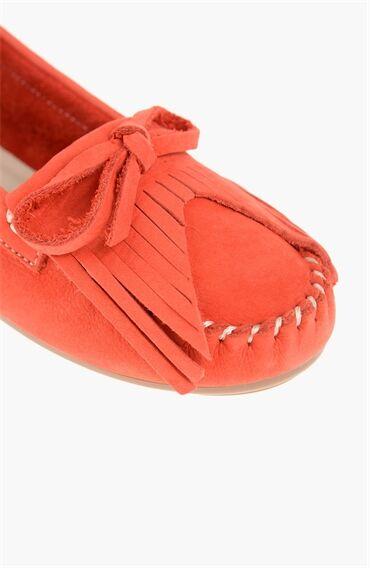 Nubuk Kırmızı Kadın Loafer